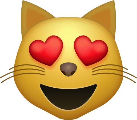 Heart Eyes Cat Emoji [Download iPhone Emojis] Cat emoji
