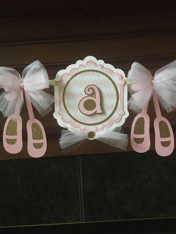 Ballet Baby Shower Banner, Ballerina Baby Shower Banner, Pink Baby Shower  Decoration, Its A Girl Baby Shower Banner, Ballet Baby Shower Idea