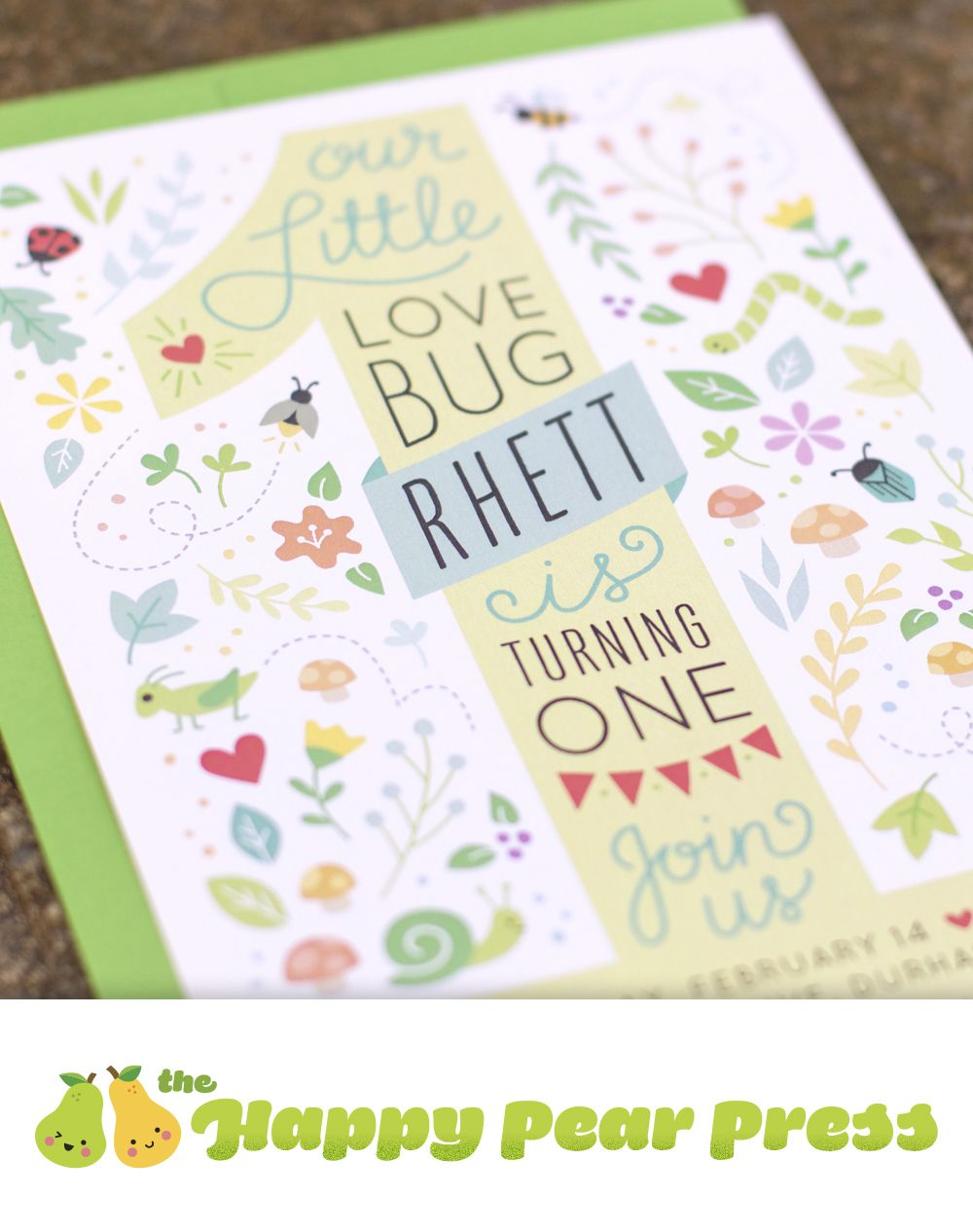 Bug party invitation – The perfect invitation for your little love ...