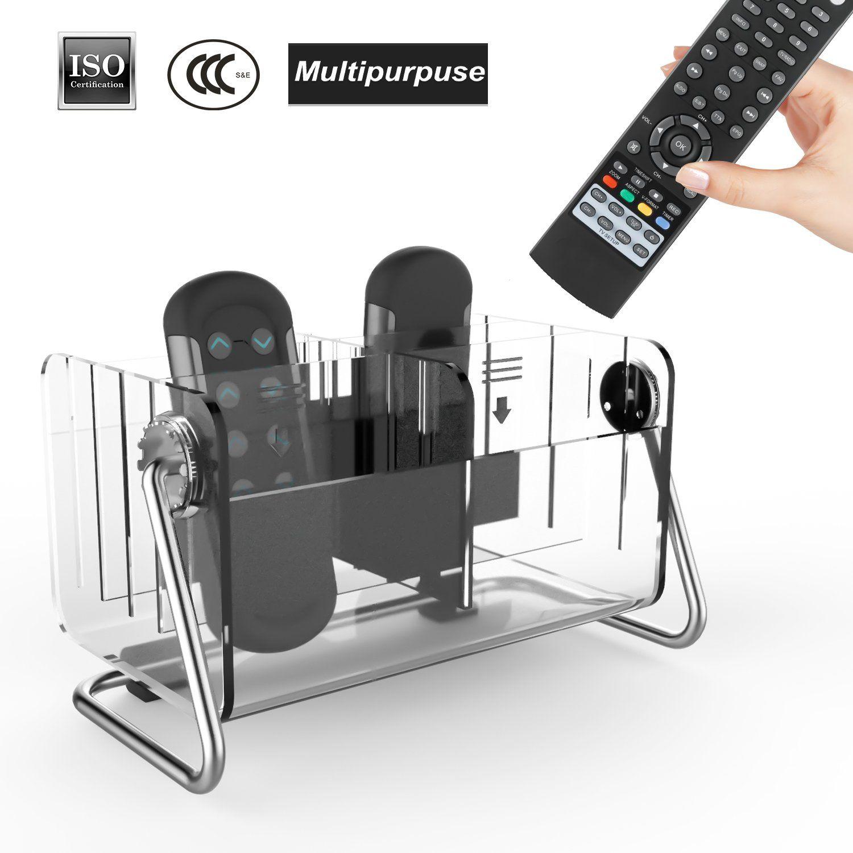 Remote Control Holder Organizer Acrylic Caddy Tidy E Saving Metal Tv