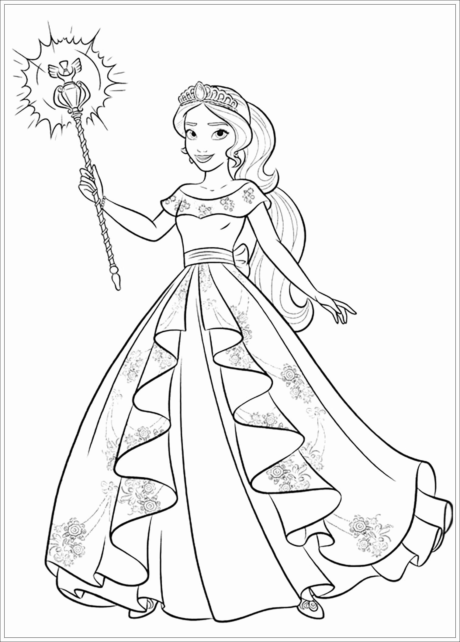 Elena Of Avalor Coloring Book Luxury Coloring Pages Elena Avalor Coloring Book Cool Princess Coloring Pages Disney Coloring Pages Cartoon Coloring Pages
