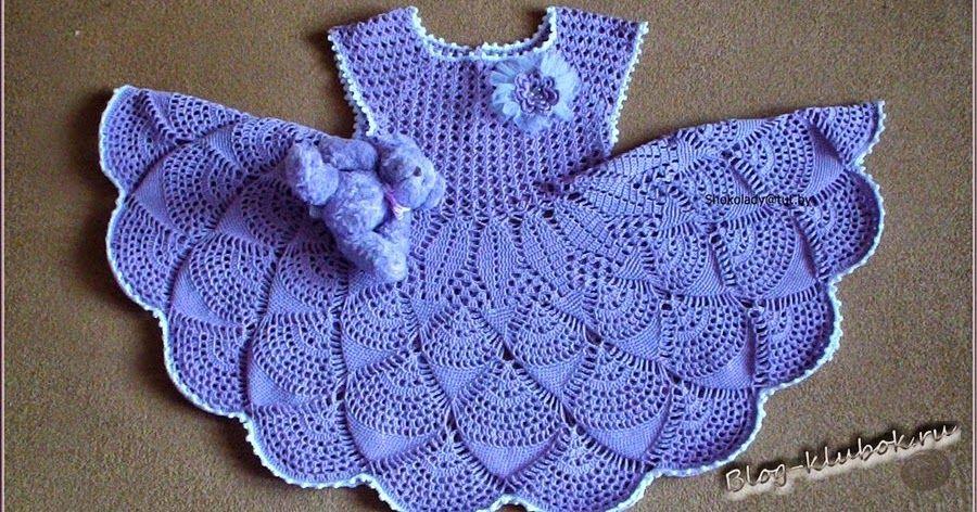 Vestido de niña tejido a crochet con patron y diagrama   Crochet ...