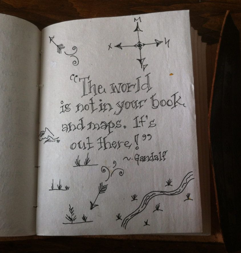 Life Lessons from The Hobbit. Encouraging quotes gift journal, 2016.