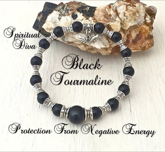BLACK TOURMALINE is one of the best protection stones you can wear. It not only removes negative energy, but changes it to positive energy. It