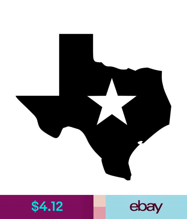 Decals Stickers Vinyl Art Texas Lone Star Decal 9 75 X10 4 Choose Color Ebay Home Garden Star Decals Lone Star Choose Colors