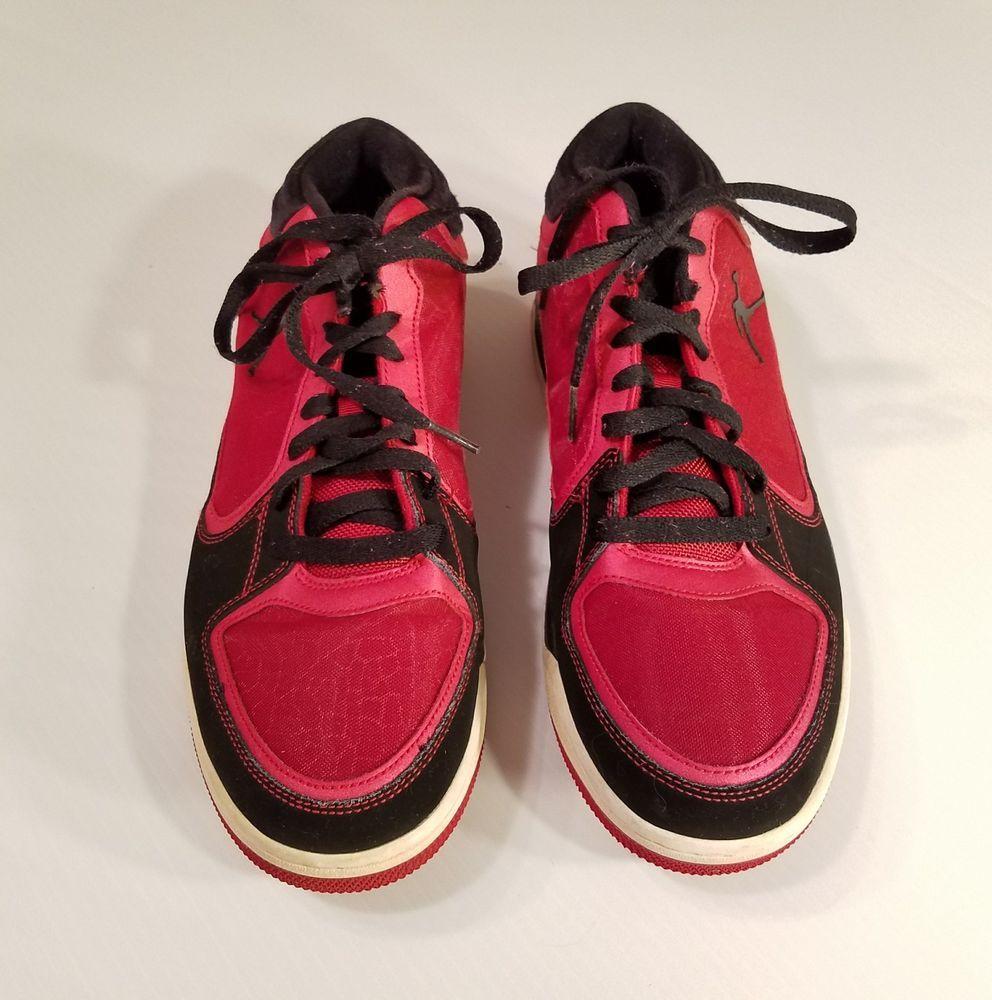 Nike Air Jordan Post Game 2012 Black Red Basketball Shoes SZ 10 552665-601