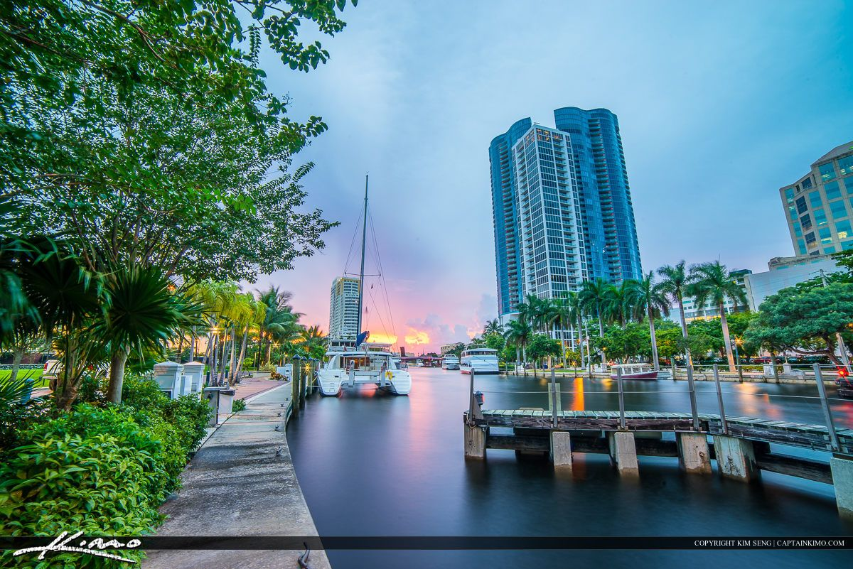 Fort Lauderdale New River At The Riverwalk Downtown With Images