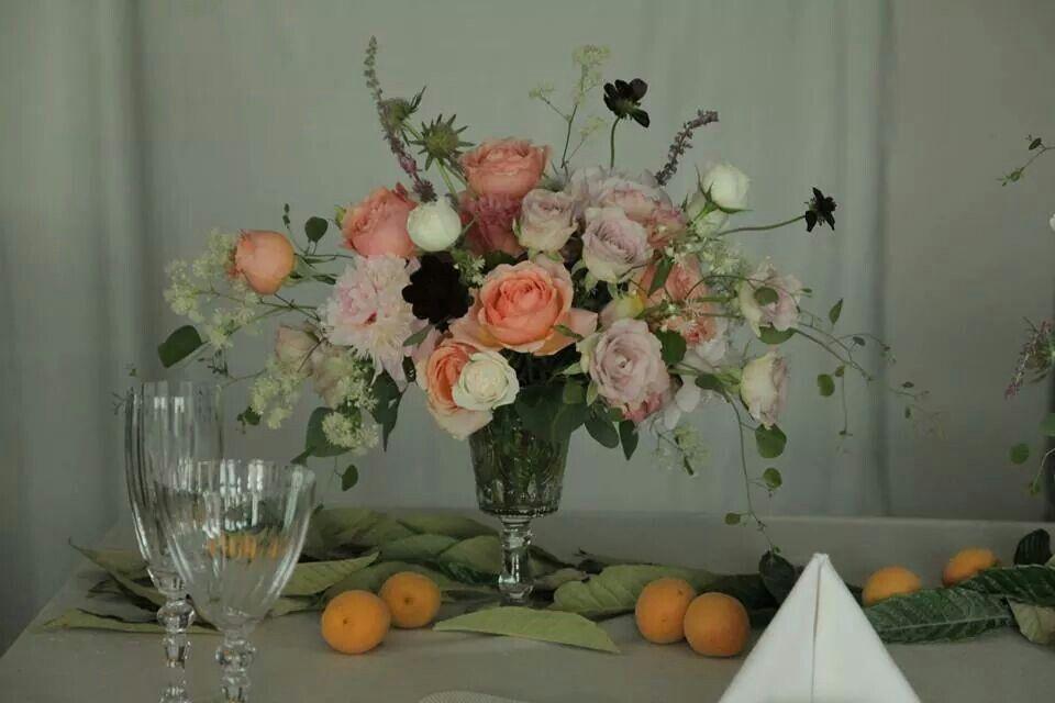 살구와 비파잎 table setting