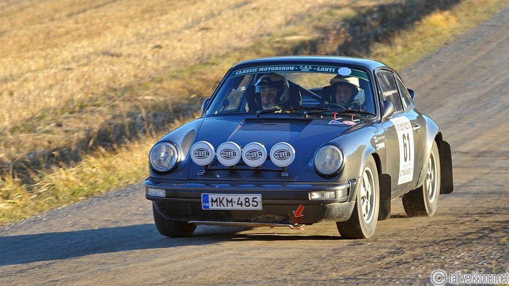 Maxell ralli 24.10.2015 Espoo Eugen Damstedt - Göran Nyberg, Porsche 911 SC