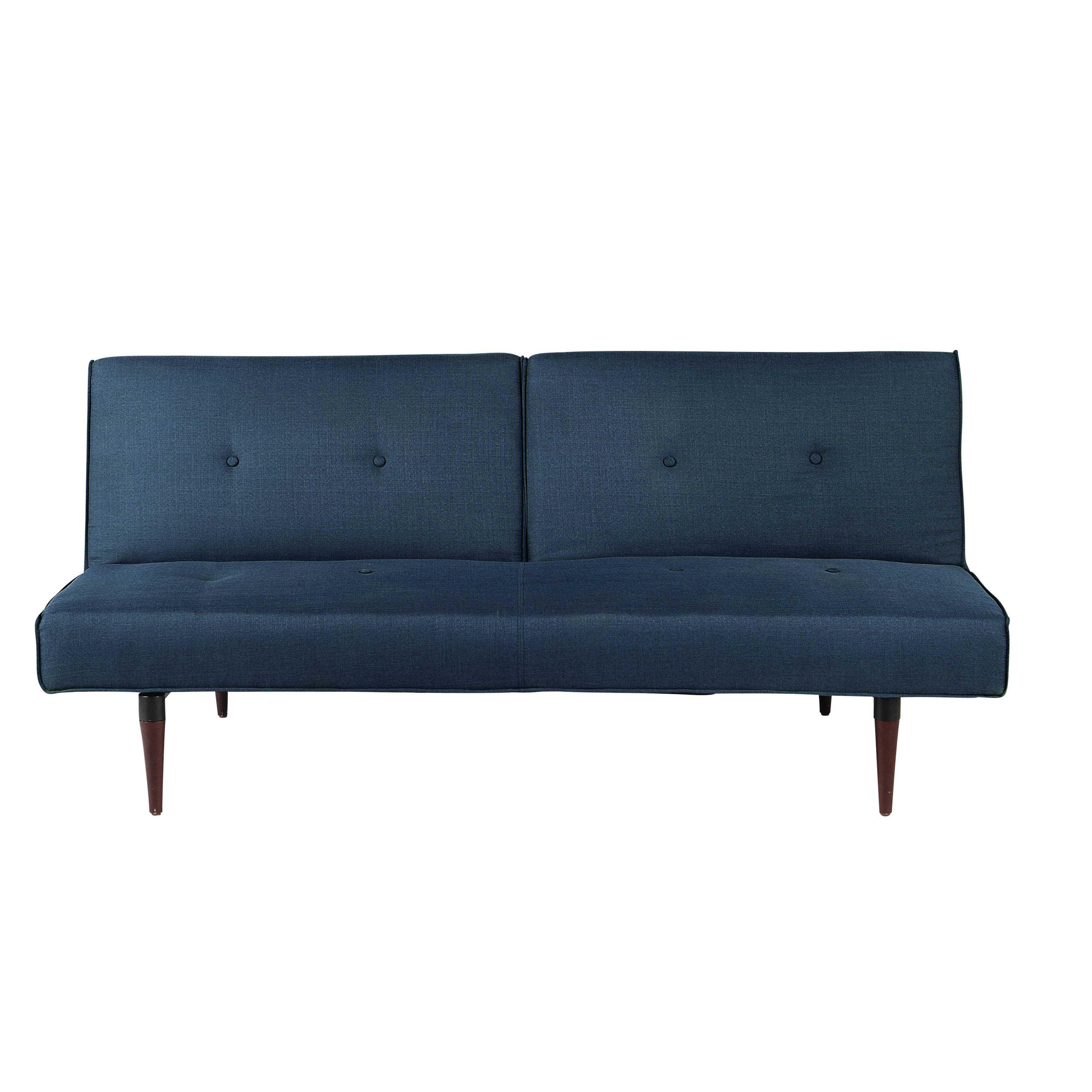 Sofa Convertible De 3 Plazas De Tela Azul Noche Trendy Tela Azul