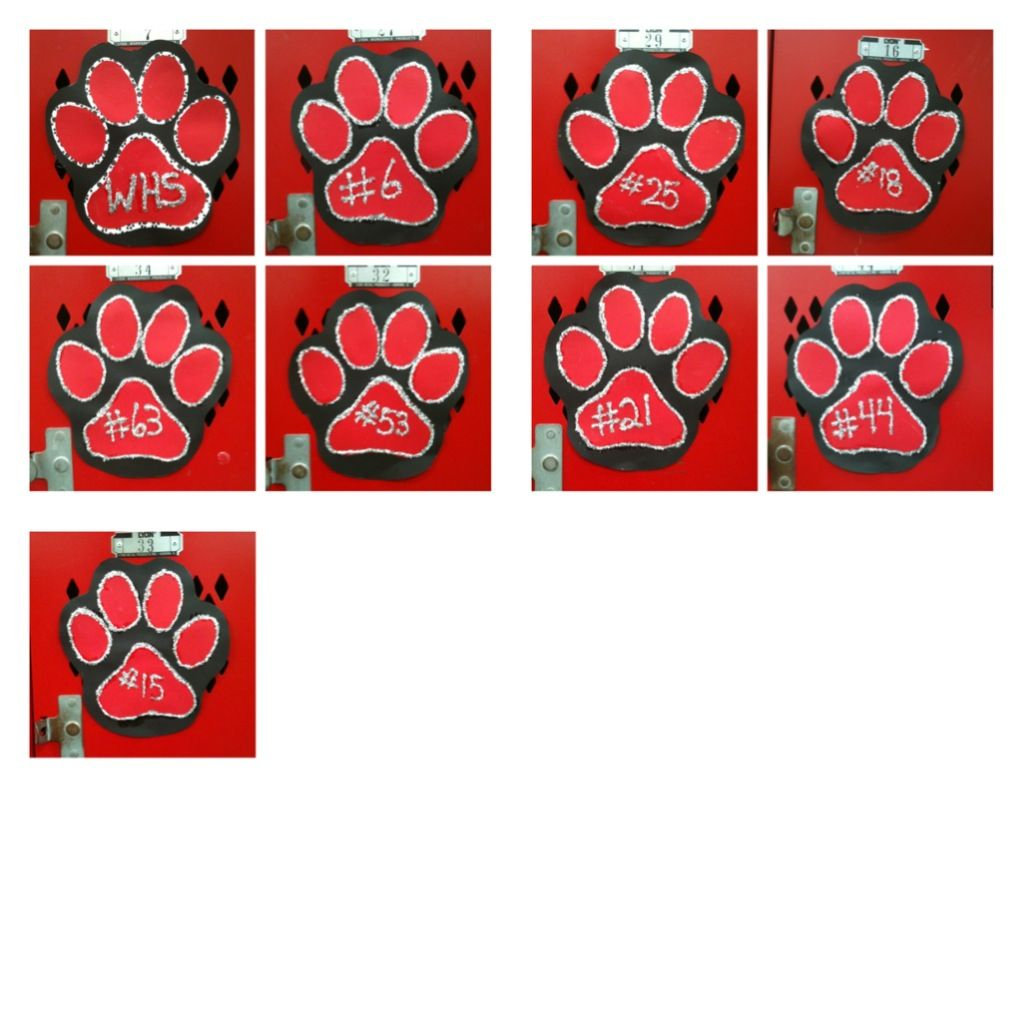 More locker decorations for our senior football players n