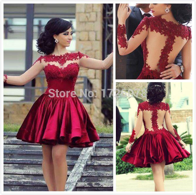 Turmec » long sleeve puffy prom dresses | Long Sleeve Dresses ...