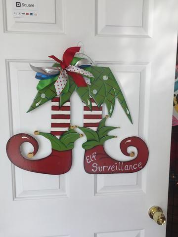 Santa Door Decoration Decoration, Christmas décor and Grinch