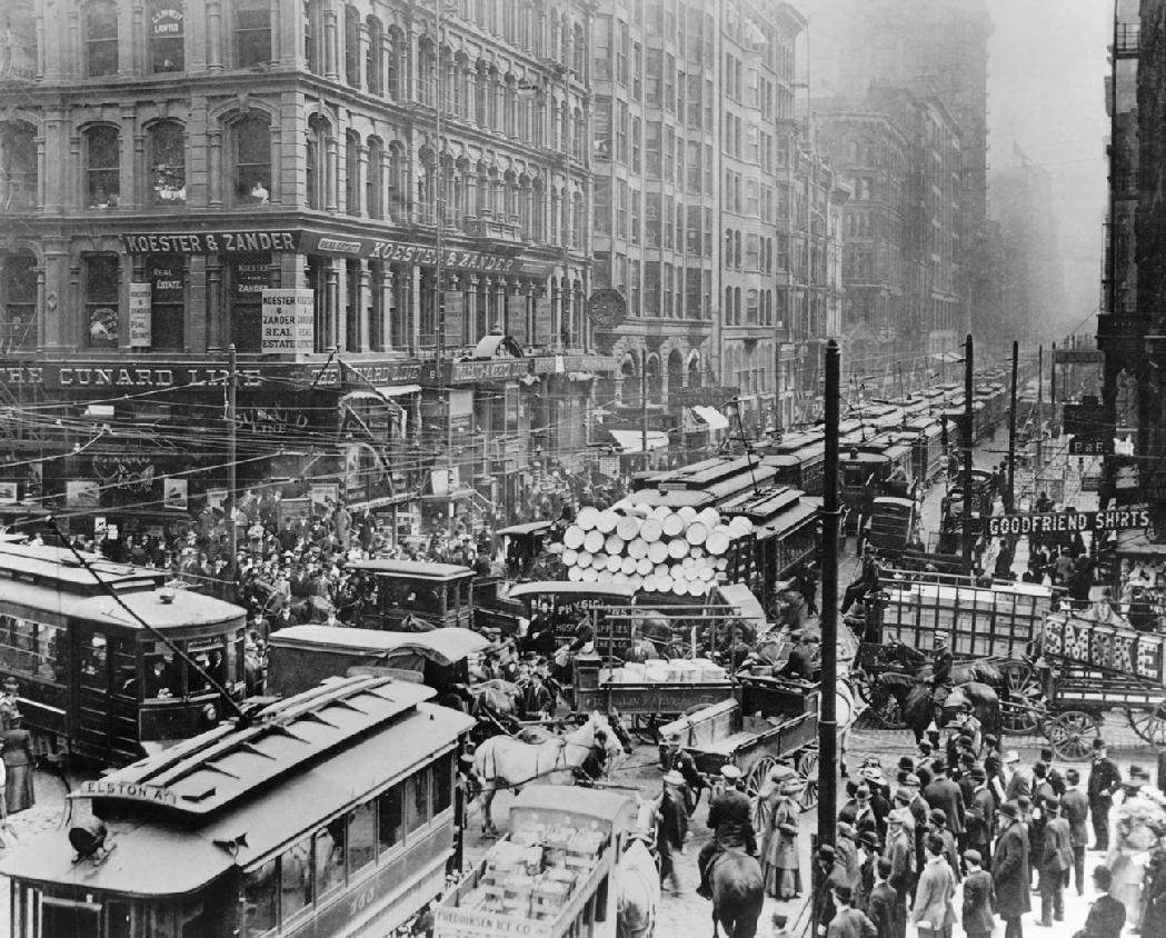 Historic Chicago - Traffic Jam on Randolph Street in 1909 | Chicago