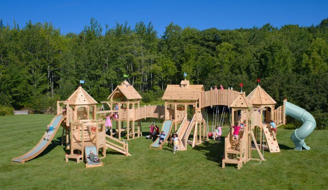 Serendipity 539 This Is What We Like To Call Cedarworks Field Of Dreams You Dream It We Can Design It Kids Playset Outdoor Playset Outdoor Kids Play Set