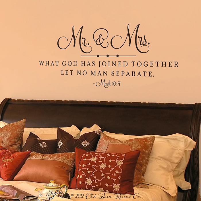 mr-Mrs-What-God-has-joined.png (700×700) | Portrait Wall Stickers ...
