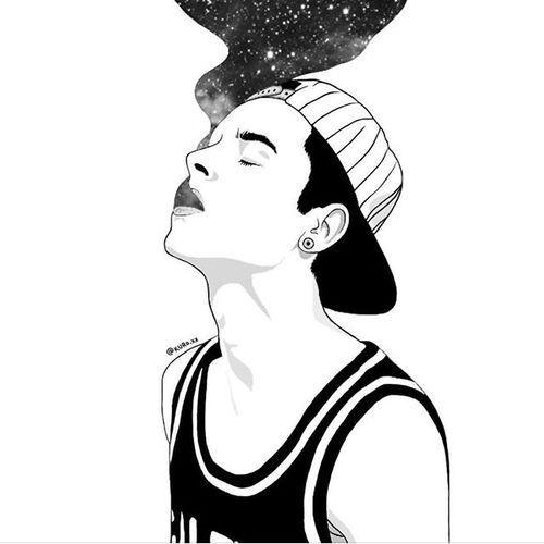 Image By Deddiy Tumblr Outline Illustration Tumblr Smoke Drawing
