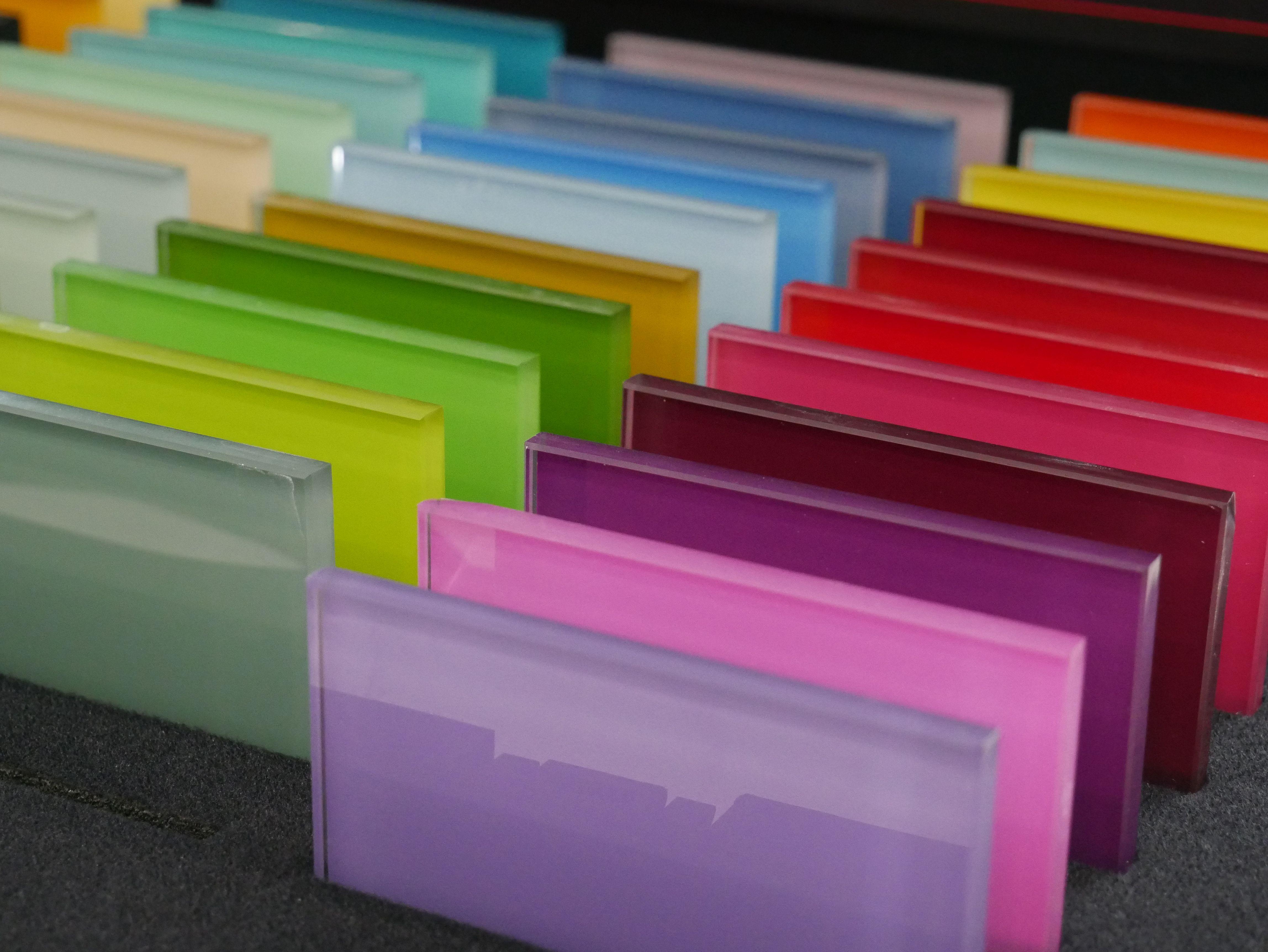 Glass splashbacks single colour selection