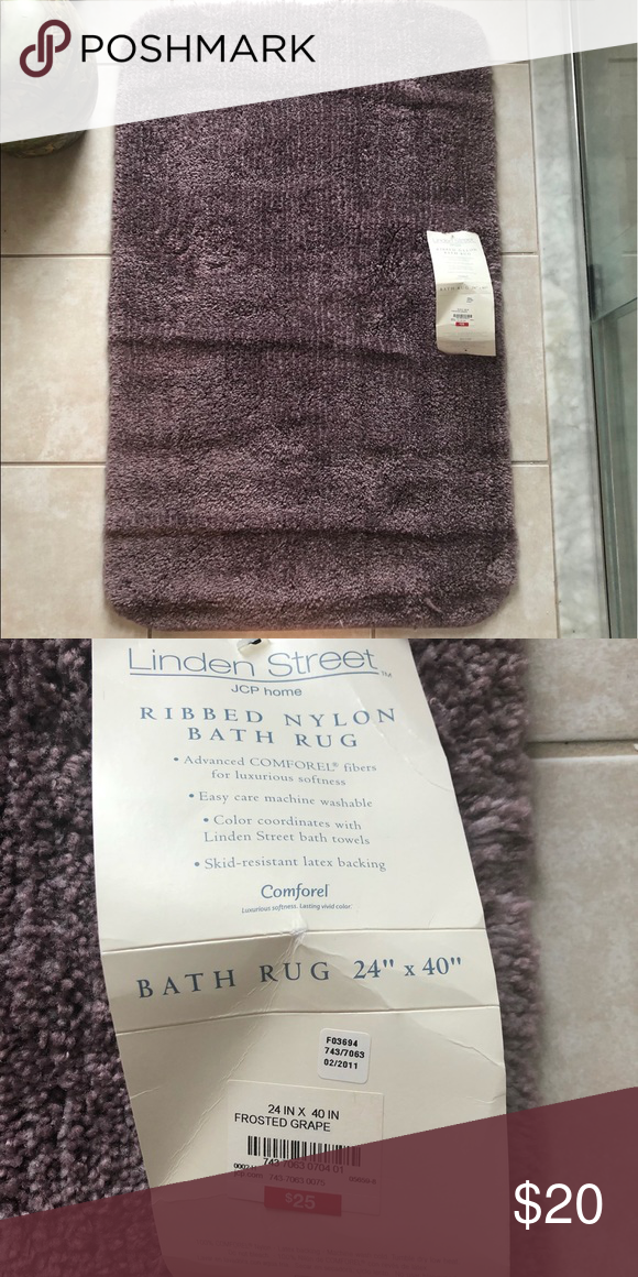 Linden Street Bath Rug New From J C Penney Home Nwt With