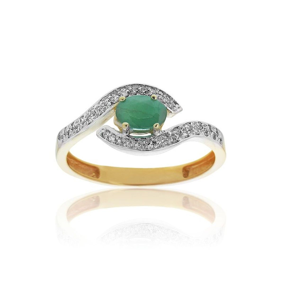Verte 3751000 Emeraude Bague En Or Et 2019Products H2ED9IWYe