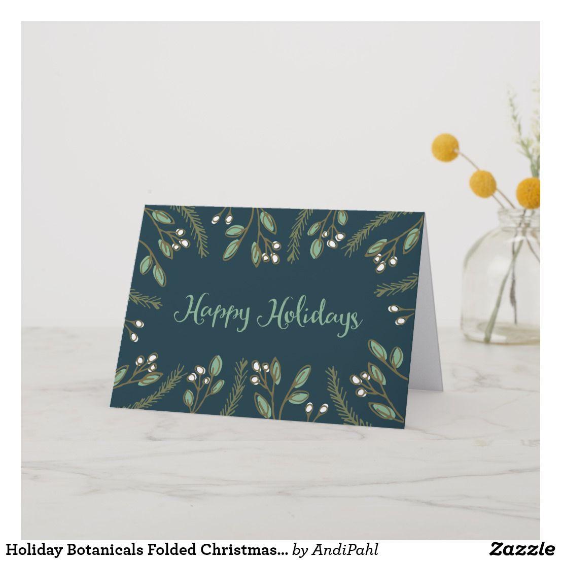 Holiday Botanicals Folded Christmas Card Holiday Botancials