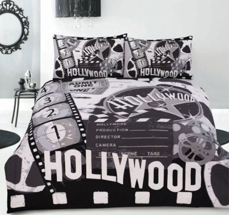 hollywood bedroom quilt cover set by retro how e