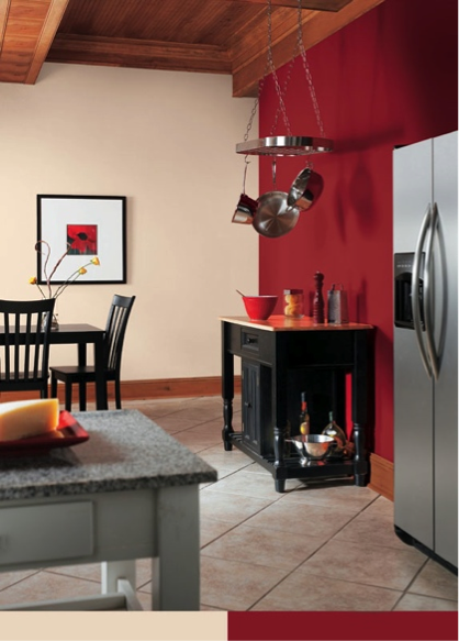 Create Drama In A Kitchen By Using Bolero Sw 7600 As An Accent Wall