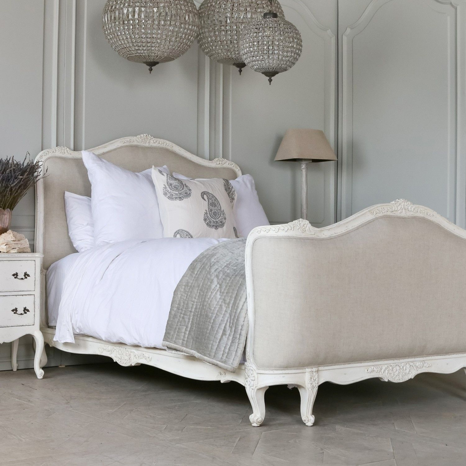 Lovely White Bed Frame Eloquence Collection Sophia Bed In