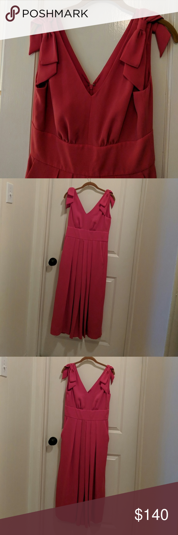 576ed0f95f0 J Crew Drapey Tie-Shoulder Jumpsuit in hot pink Fits true to size ...