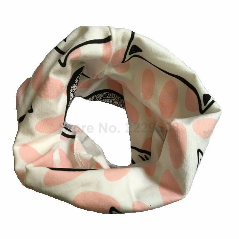 1 pc fashion baby scarf 100% cotton children scarves winter kids O ring collars autumn bufandas boy girl Multifunctional Scarf