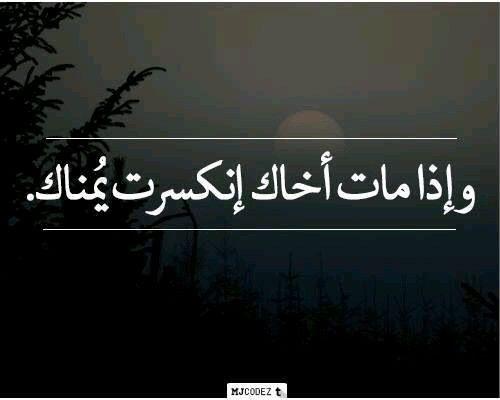 مات اخاك Cute Love Quotes Photo Quotes Arabic Quotes