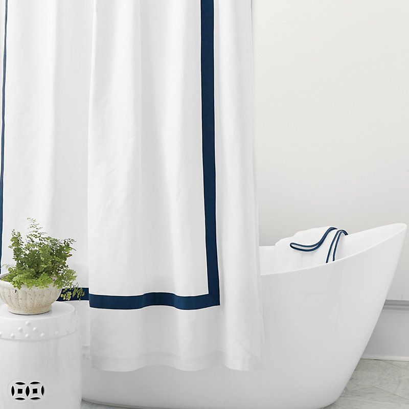 Linen Trim Shower Curtain Select Colors In 2020 Novelty Shower