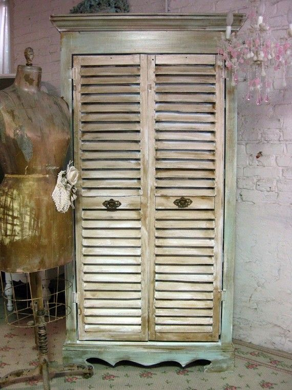 Farmhouse Shutter Cabinet