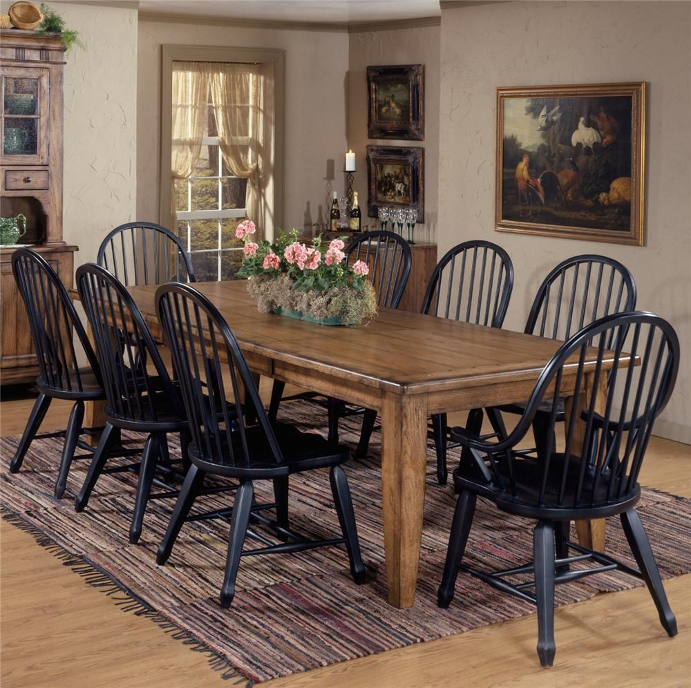 Awesome Treasures 9 Piece Leg Table U0026 Bowback Chair Set By Liberty Furniture   Wolf  Furniture   Dining 7 (or More) Piece Set Pennsylvania, Maryland