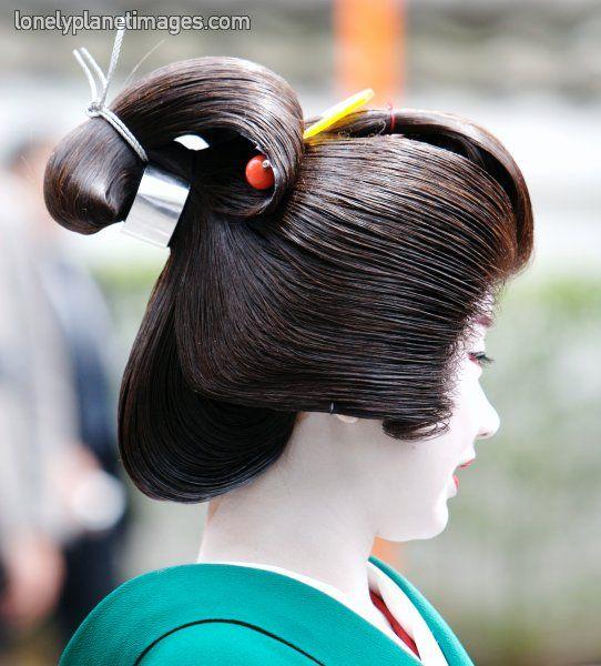 Japanese Wedding Hairstyles: Geisha Hairstyle Gion District