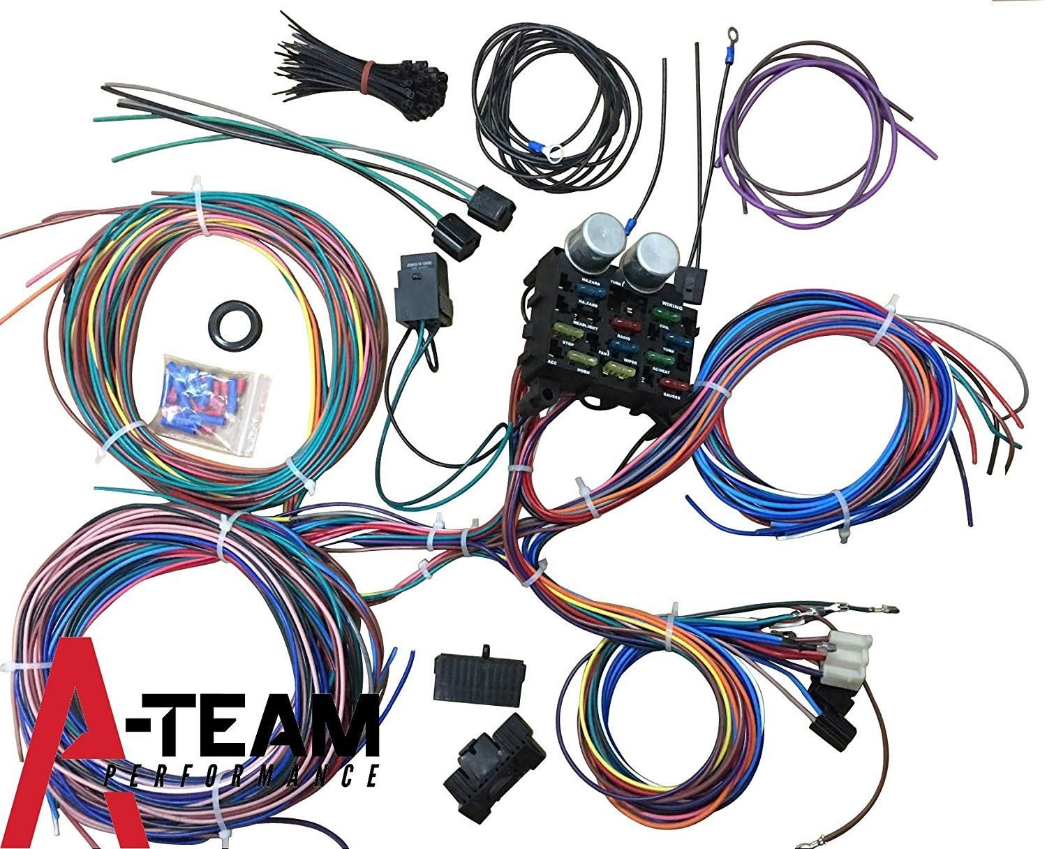 a team performance 12 standard circuit universal wiring harness kit muscle car hot rod street rod new xl wire you can find more details by visiting the  [ 1500 x 1216 Pixel ]