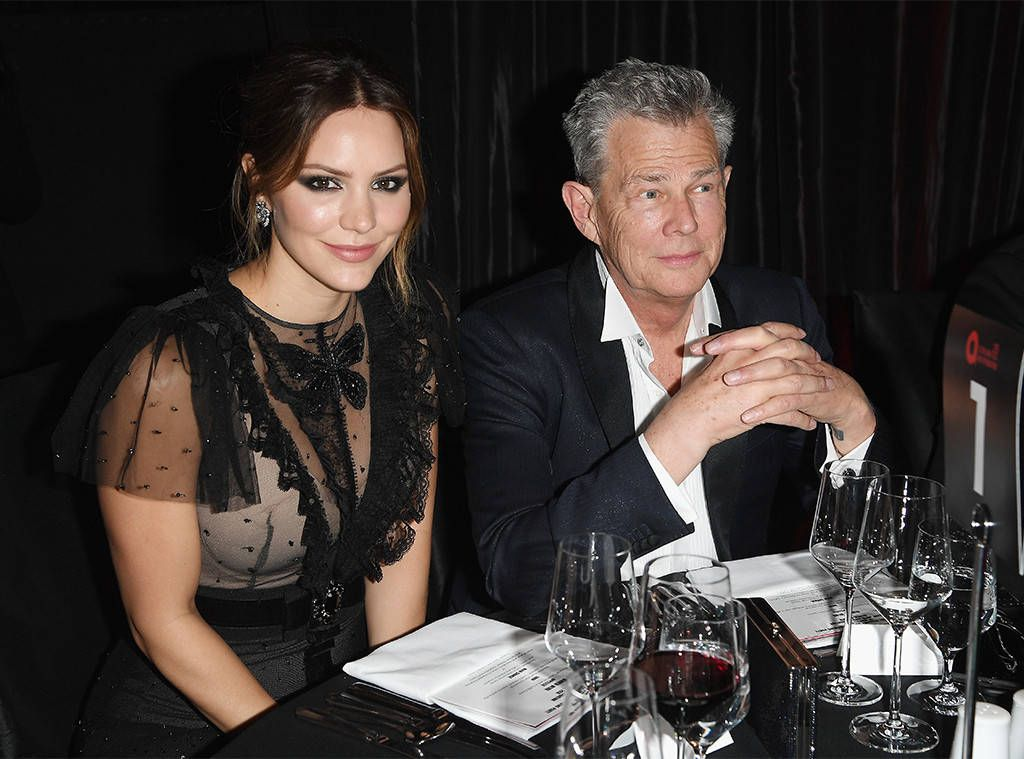 David Foster And Katharine Mcphee Enjoy Date Night At Oscar Party Elton John Style Transformation The Fosters