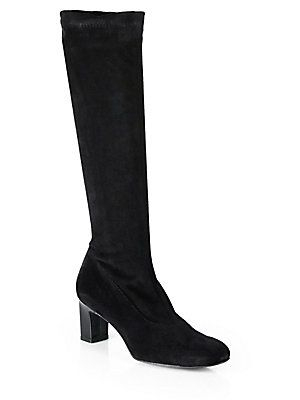 528042131cc Prisca Stretch Suede Knee-High Boots - Robert Clergerie