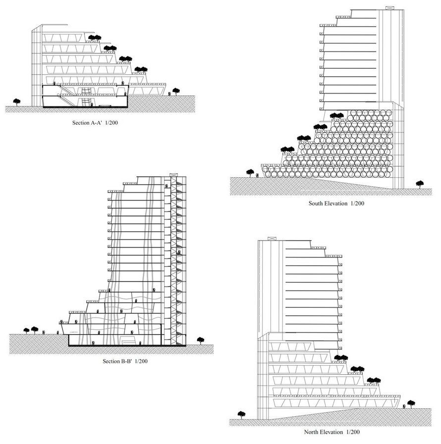 Find Appartment: High Rise Residential Floor Plan