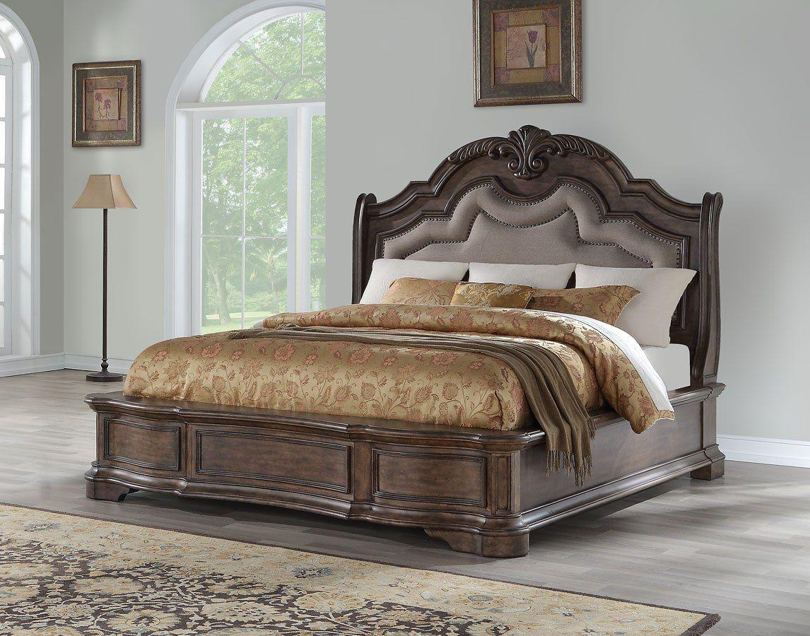 Tulsa Upholstered Bed  Bedroom sets, Ornate bedroom, Bedroom