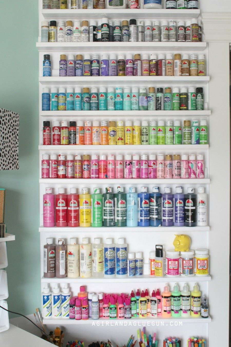 Craft Room Tour Craft Paint Storage Craft Room Paint Storage