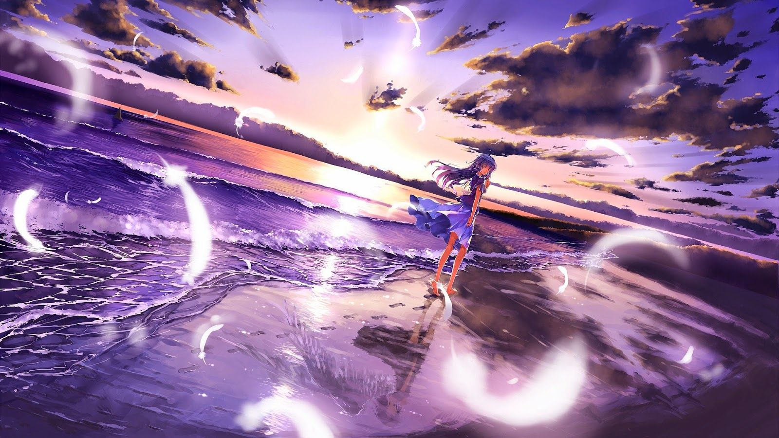 Animated Pink Beach Wallsheets Desktop Wallpapers And Backgrounds Anime Wallpaper 1920x1080 Anime Background Anime Scenery