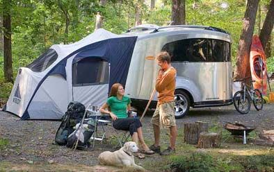 Park And Open Out The Back A Tent Option Engineered By Outdoor Products Giant Kelty Gives You Sle Airstream Basecamp Small Travel Trailers Airstream Camping