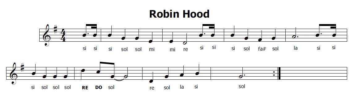 Musica e spartiti gratis per flauto dolce robin hood