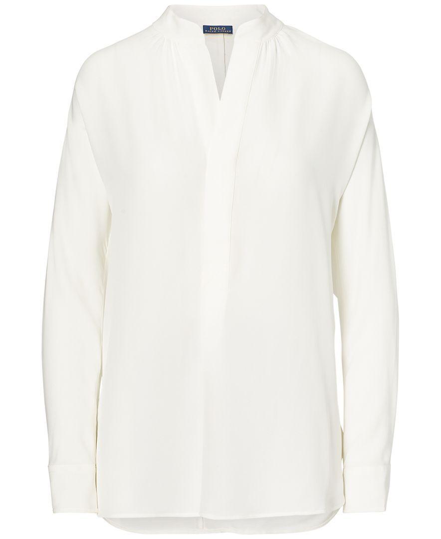 da20f30ca8 Polo Ralph Lauren Silk Georgette Shirt | Products | Shirts, Polo ...