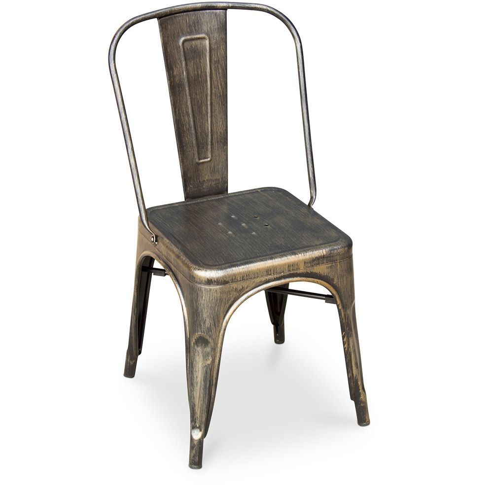 Chaise Tolix Assise Carree Xavier Pauchard Style Metal Chaises