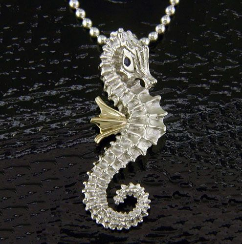 Steven douglas 14k and sterling silver seahorse pendant seahorses steven douglas 14k and sterling silver seahorse pendant aloadofball Image collections