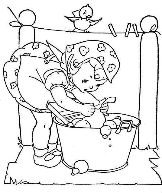 Vintage coloring book pictures, love! | Embroidery | Pinterest ...