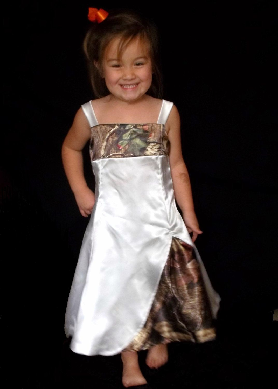 7875cf5c642 Can t believe how many camo flower girl dresses there are!