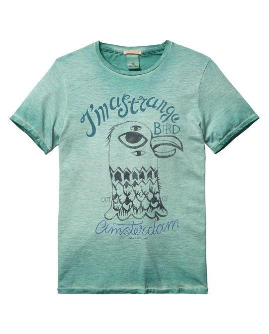 Scotch & Soda SIMPLE GRAPHIC TEE REGULAR FIT - Camiseta print - ecru iA2twXr